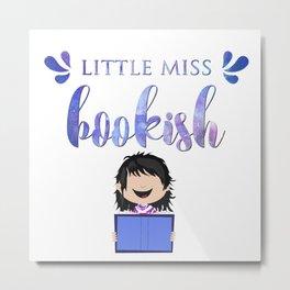 Little Miss Bookish Metal Print