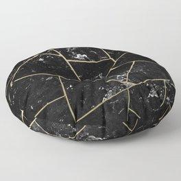 Black Marble Gold Geometric Glam #1 #geo #decor #art #society6 Floor Pillow