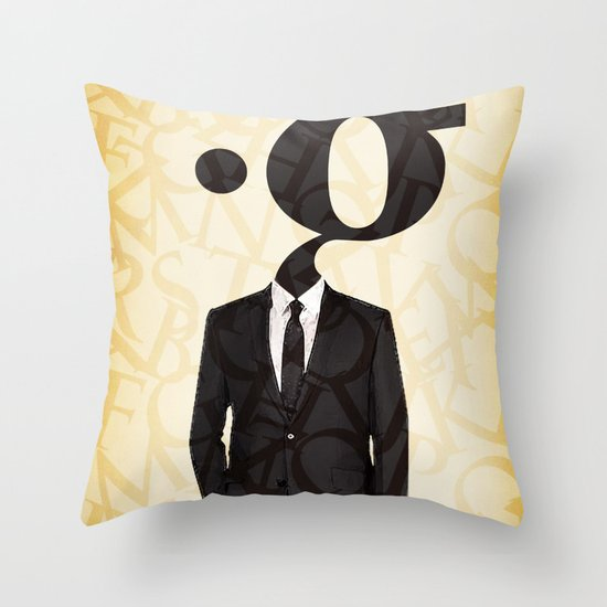 mr .g in a suit Throw Pillow