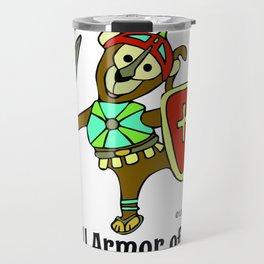 © Litte Monkey wears Full Armor of God Travel Mug