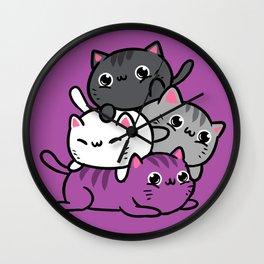 Meowtain Asexual Pride Wall Clock
