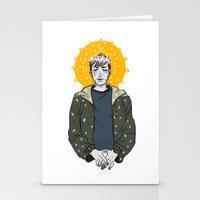 kieren walker Stationery Cards featuring Kieren Walker by timeflashh