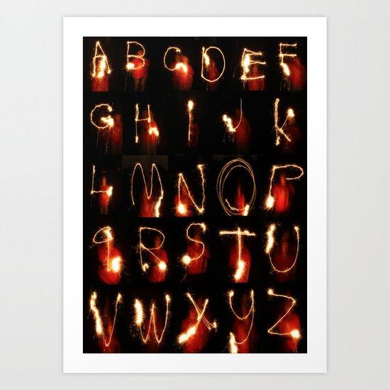 alphabet lights Art Print