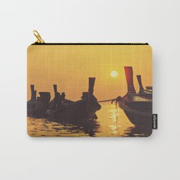 Longtail Thai boats @ sunset Carry-All Pouch