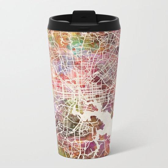 Baltimore map Metal Travel Mug