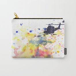 Helicopter Flying into Color Carry-All Pouch
