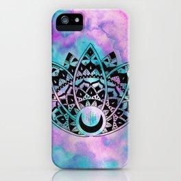 Lotus Mandala Watercolor iPhone Case