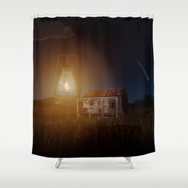 The hut in the meadow by GEN Z Shower Curtain
