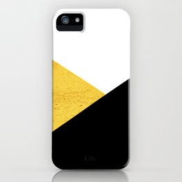 Gold & Black Geometry iPhone Case
