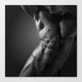 The Orb#9 - Nude Male Body Sculpture Canvas Print