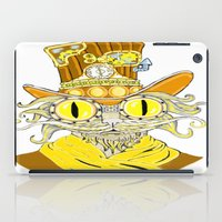 steam punk iPad Cases featuring Steam Punk Cat by J&C Creations