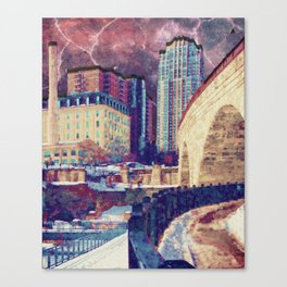 Stone Arch at Night Canvas Print