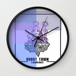 Robot Town color Wall Clock