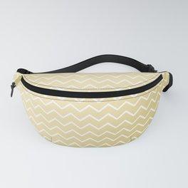 Elegant faux gold white geometrical gradient pattern Fanny Pack