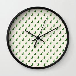 Holiday stockings - green Wall Clock