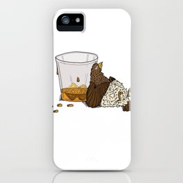 Thirsty Grouse - Colored with White Background iPhone Case