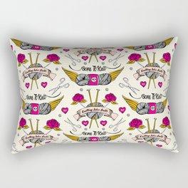 Born To Knit Rectangular Pillow