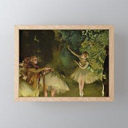 Ballet Rehearsal By Edgar Degas   Reproduction   Famous French Painter Framed Mini Art Print