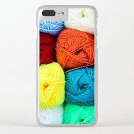 Coloured Balls of Wool Clear iPhone Case