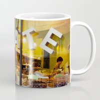 chocolate Mugs featuring chocolate by The Last Sparrow