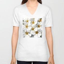 Flowers | Flower | Nadia Bonello | Vintage Inspired White Flowers Unisex V-Neck