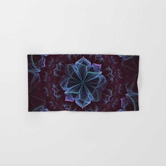 Ornate Blossom in Cool Blues Hand & Bath Towel
