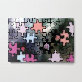rosebuds and puzzle Metal Print