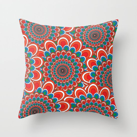 Pattern F Throw Pillow
