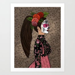 Rosa Maria on the Day of the Dead Art Print