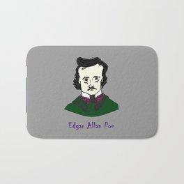 Edgar Allan Poe - hand-drawn portrait Bath Mat