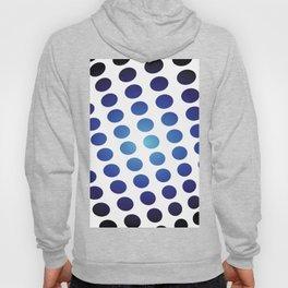BLACK AND BLUE CIRCLES Abstract Art Hoody