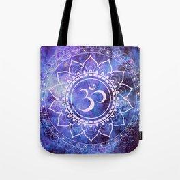 Om Mandala Purple Lavender Blue Galaxy Tote Bag