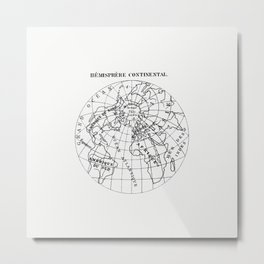 World atlas from Voyeur's Checklist, General Notions Of Mathematical Geography, Physical Geography, Metal Print