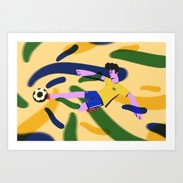 Brazillian Football Art Print