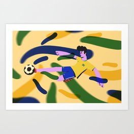 Brazillian Football Art Print