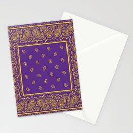 Purple and Yellow Bandana Stationery Cards
