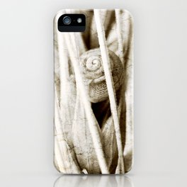 The snail in grain iPhone Case