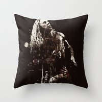 springsteen Throw Pillows featuring The Wrestler by  Maʁϟ