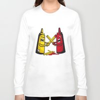 fries Long Sleeve T-shirts featuring Fries wars by pludadesign