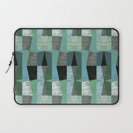 Perspective Compilation with Wood Grain and Teal Laptop Sleeve