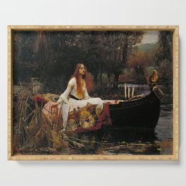 John William Waterhouse - The Lady of Shalott, 1888 Serving Tray