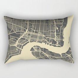 Jacksonville map yellow Rectangular Pillow
