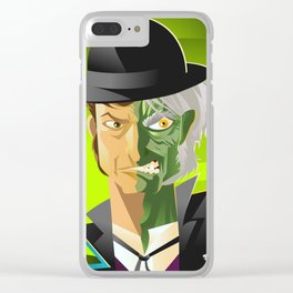 doctor jekyll and mister hyde monster tranformation with green potion Clear iPhone Case