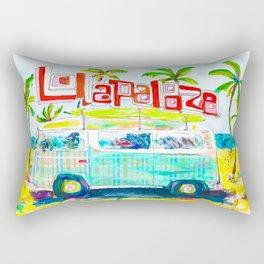 Lollapalooza Plaid Rad Beach Van Rectangular Pillow