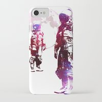 men iPhone & iPod Cases featuring Space Men by rubbishmonkey