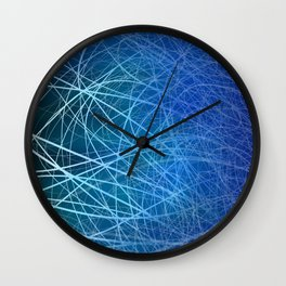 Cyan Linear Explosion Wall Clock