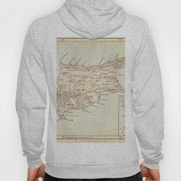 Vintage Map of Cyprus Hoody