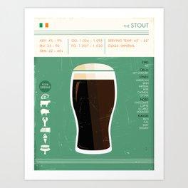 Stout Beer Art Art Print