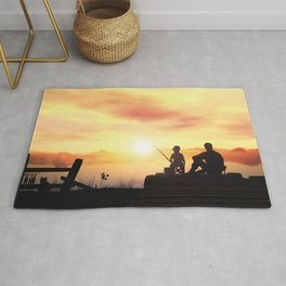 Father and Child Sunset Rug