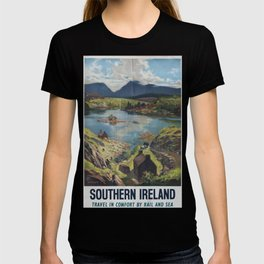Southern Irleand Vintage Travel Poster T-shirt